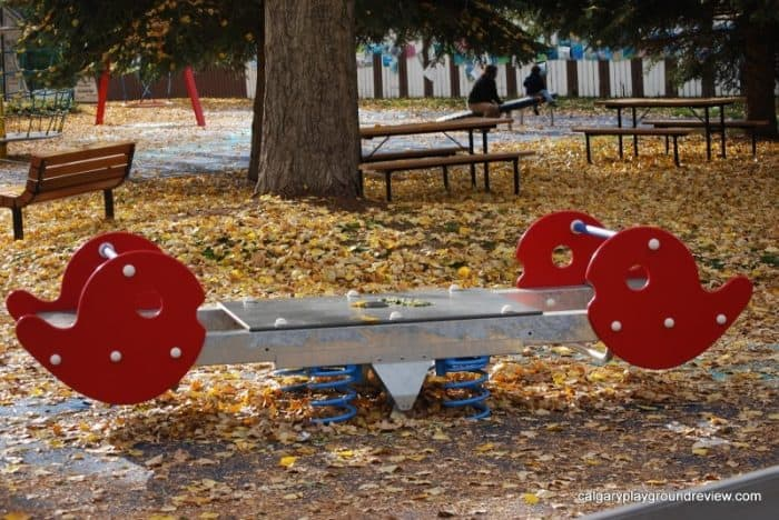 Nellie Breen Park in the fall - - Calgary Parks with Great Fall Leaves