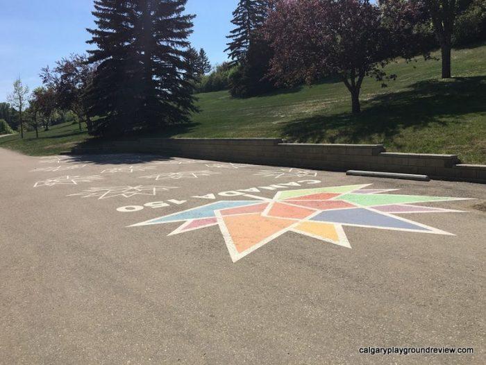 Canada 150 artwork near the Parks building