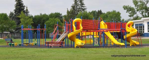 Chinook School Yellow Slide Playground