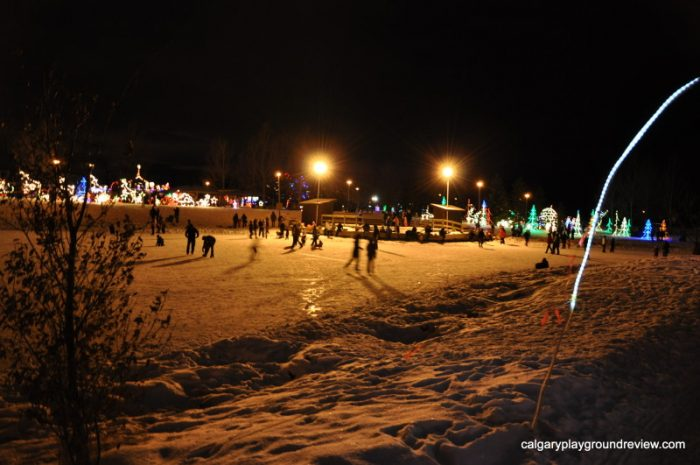 Skating at Airdrie Festival of Lights