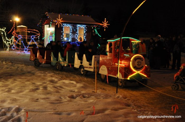 Train ride at Airdrie Festival of Lights