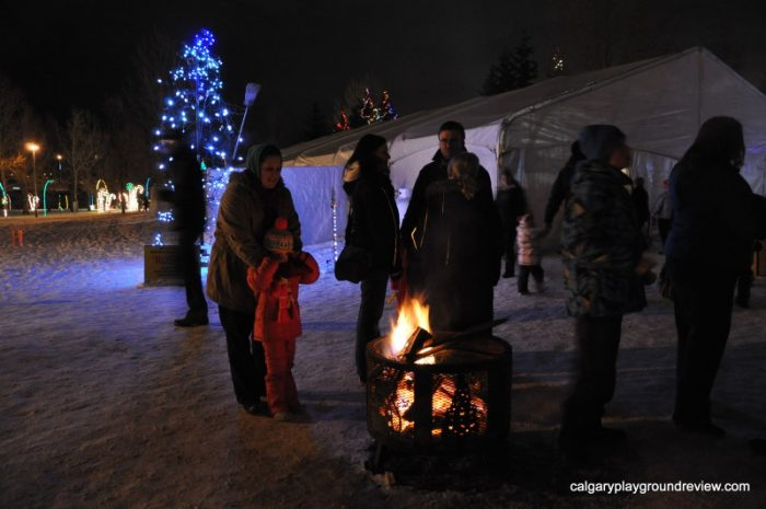 Bonfire at Airdrie Festival of Lights