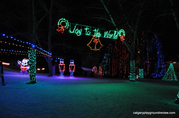Christmas light displays in calgary calgaryplaygroundreview if you go under this sign youll find yourself walking past the toboggan hill if you look to the east right youll see a shallower slope that will take solutioingenieria Choice Image