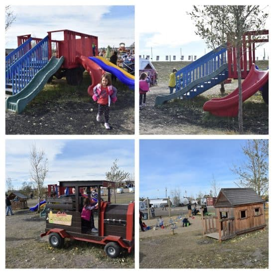 playgrounds, slides and playhouse photo collage