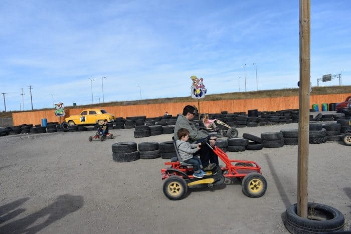 pedal carts at Cobb's Adventure Park