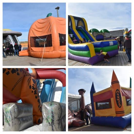 Bouncy castle collage