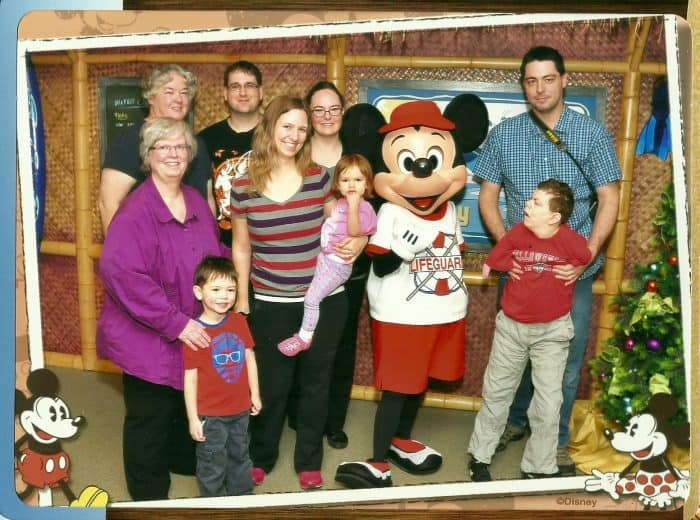 Mickey Mouse photo op at Character Breakfast - Paradise Pier Hotel