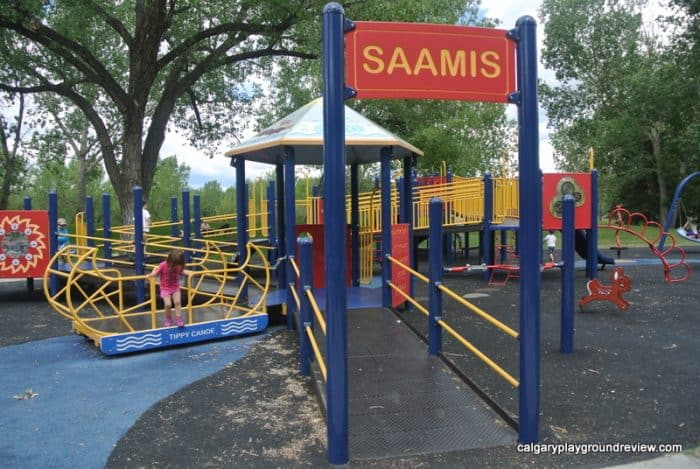 Medicine Hat Playgrounds, Parks and Spray Parks - Strathcona Island Park Saamis Playground - Medicine Hat