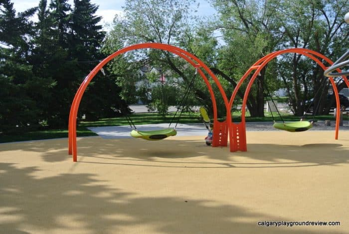 two Saucer swings