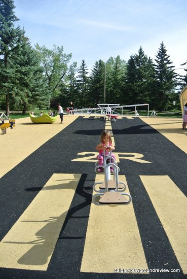 Runway flooring at Currie Barracks Airport Playground