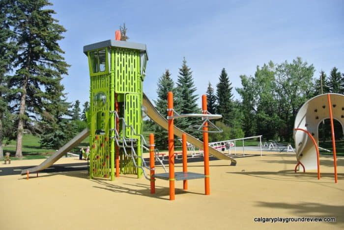 Control tower at Currie Barracks Airport Playground