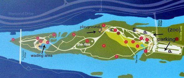 St. Patrick's Island Map