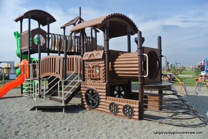 Train shaped playground