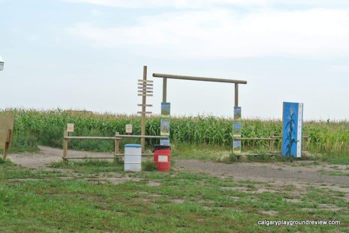 Calgary Farmyard Corn Maze enterance