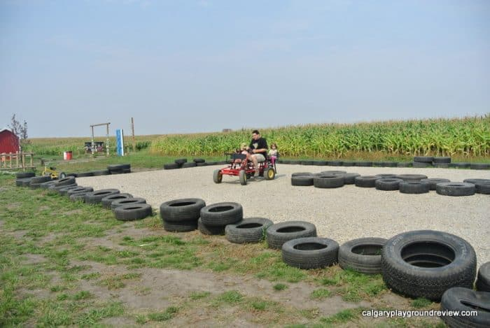 pedal cart track