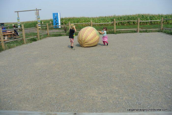 Giant corn shaped ball