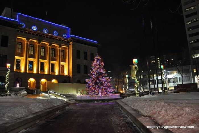 McDougall Centre - Christmas lights