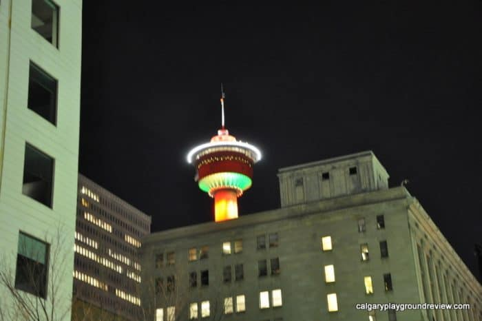 Calgary Tower at Christmas