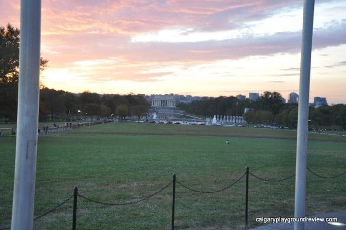 The Lincoln Memorial from the Washington Monument - the National Mall