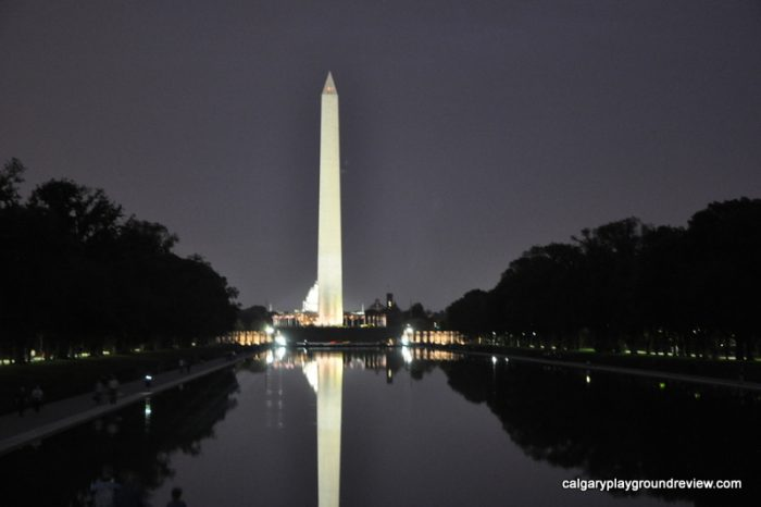 The Washington Monument from the Lincoln Memorial - the National Mall