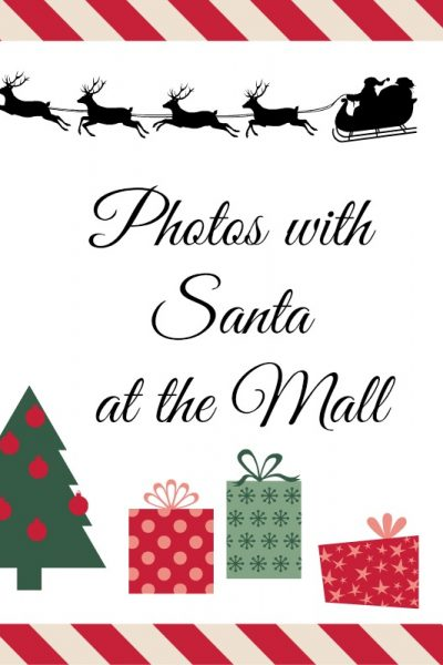 Photos with Santa at the mall in Calgary – 2017