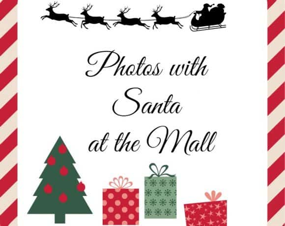 Photos with Santa at the mall in Calgary – 2018