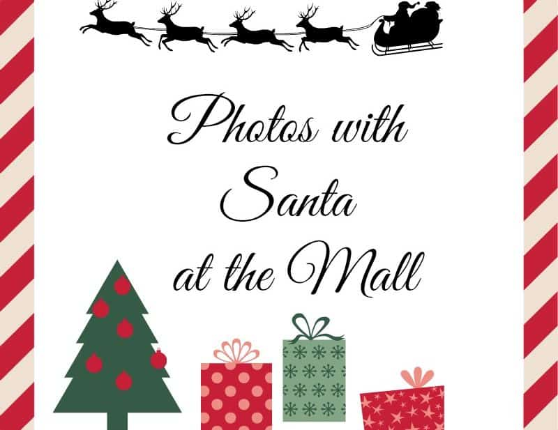 photos with Santa at the mall