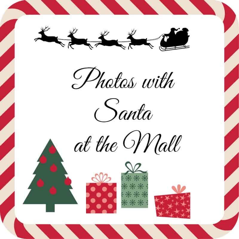 photos with Santa at the mall