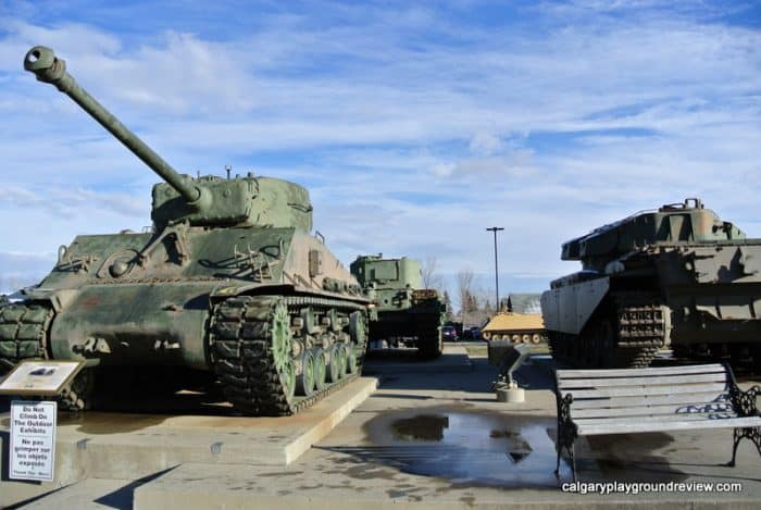 Tanks outside The Military Museums