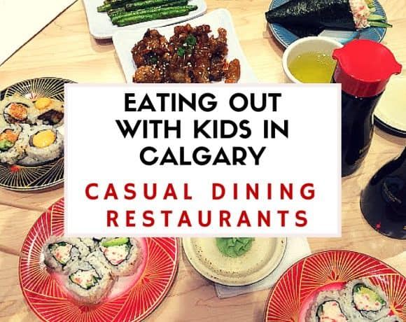 Eating Out with kids in calgary - Casual Dining