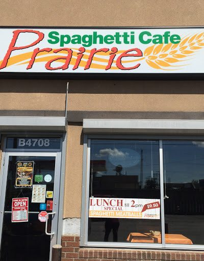 Spaghetti Cafe Prairie – Eating Out With Kids in Calgary – closed