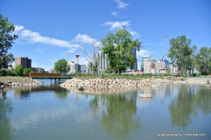 Calgary Staycation - View from St. Patrick's Island