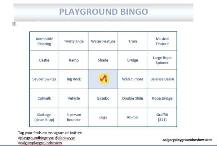 Playground Bingo
