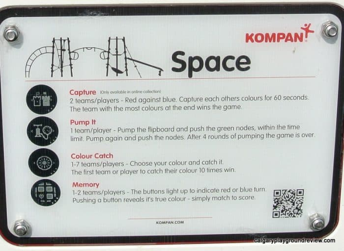 Kompan Space Game instructions