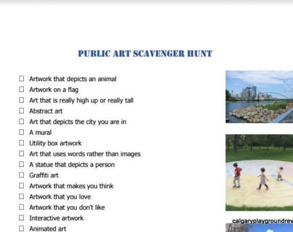 Public Art Scavenger Hunt
