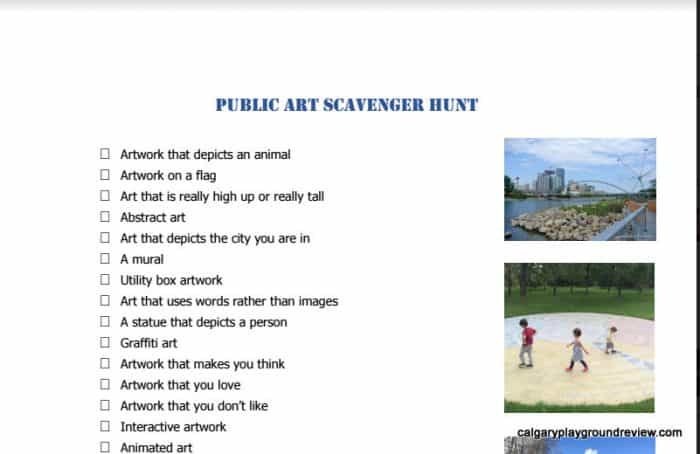 Public Art Scavenger Hunt