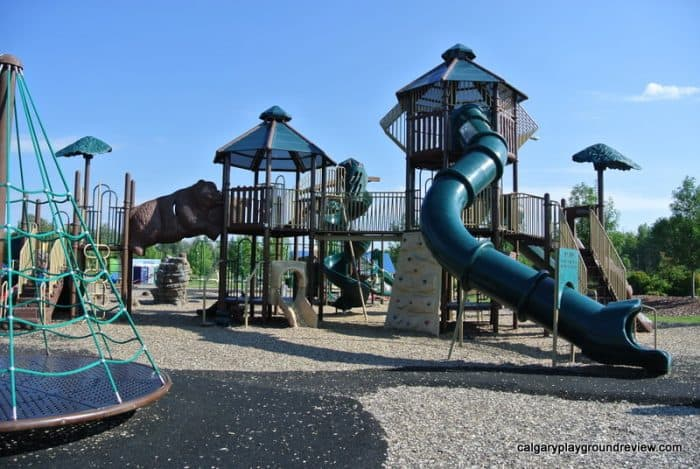 Rotary Park playground and river slides – Whitecourt, AB