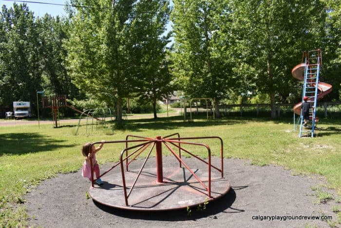 Old playground - East Coulee School Museum
