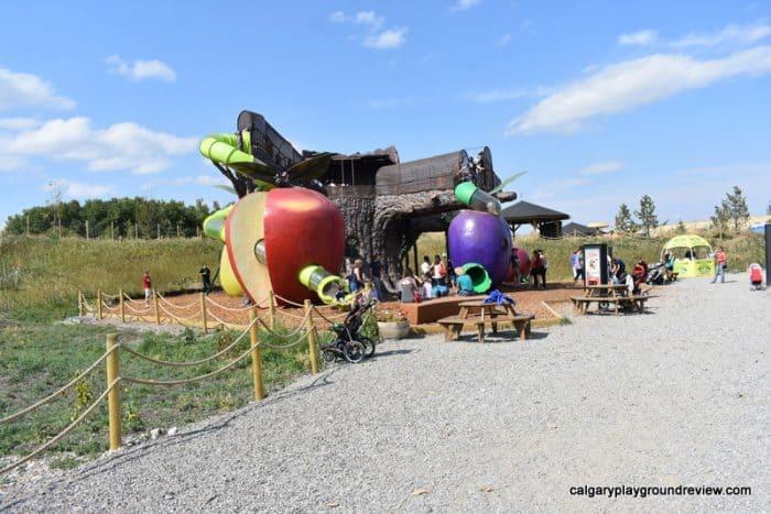 Giant apple and plum climber