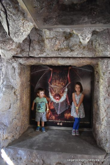 Bat cave photo op