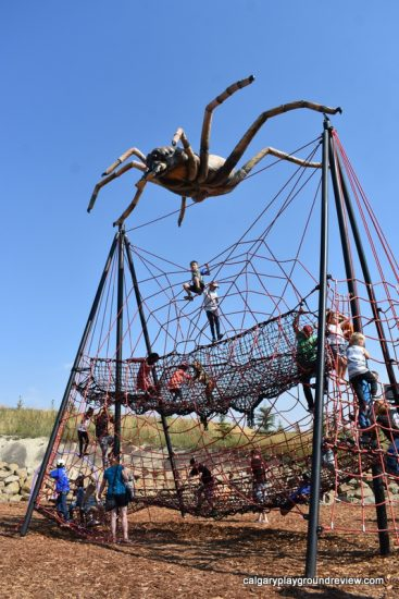 Large spider shaped climber at Granary Road