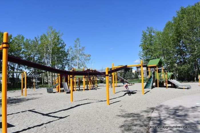 Walden Grove Playground with zipline - Calgary's best playgrounds 2019