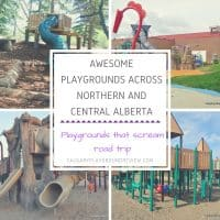 Awesome Playgrounds Across Northern and Central Alberta