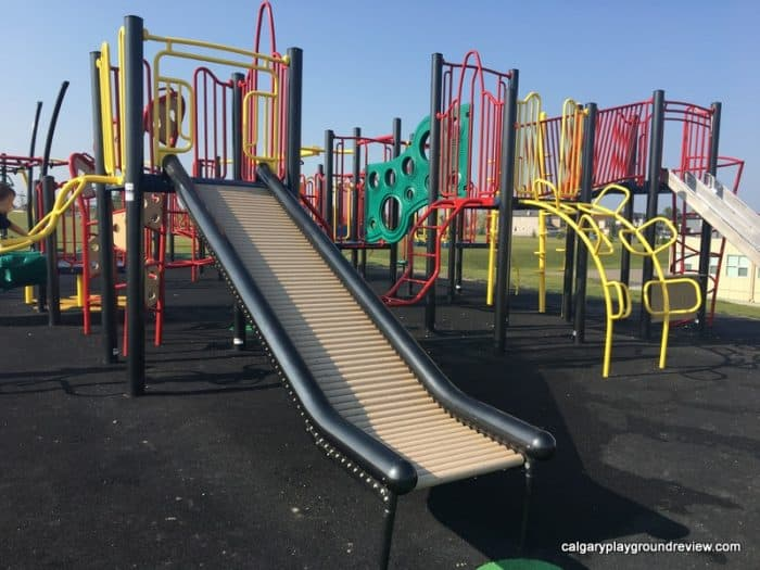 Saddleridge School Playground with roller slide - Calgary's best playgrounds 2019
