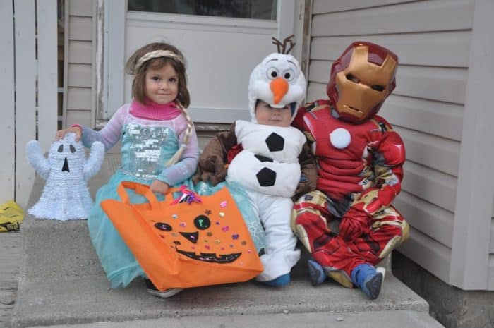 Kids ready to Trick or Treat in Calgary