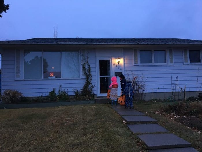 Trick or treating in Calgary