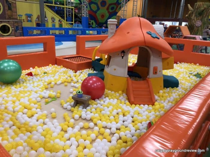 Toddler area ball pit at the Big Box