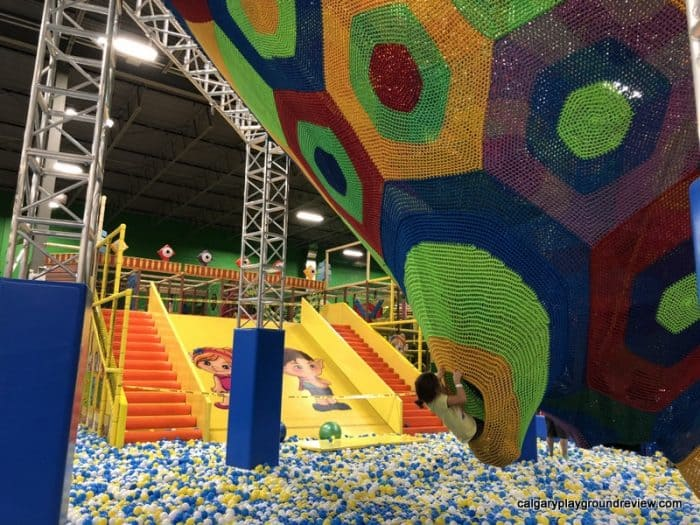 Wide slide into the ball pit