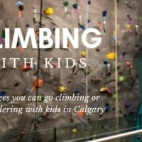 Climbing with kids in Calgary