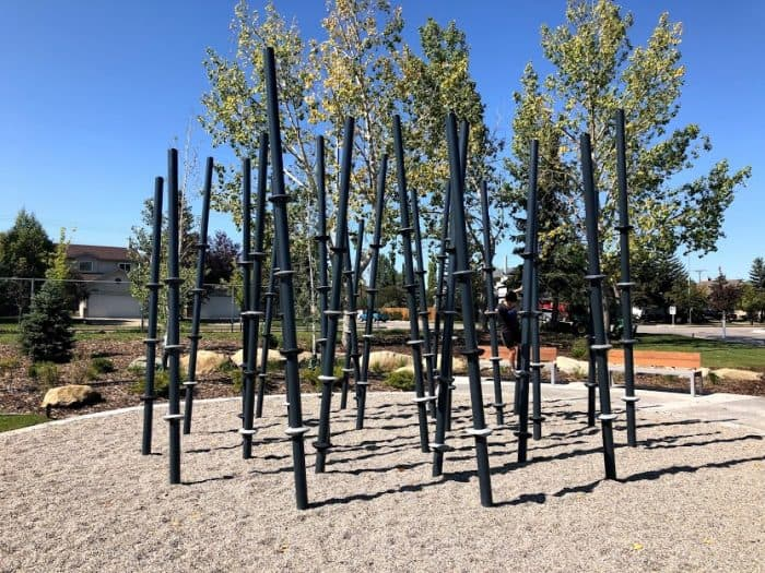 Stick forest playground equipment